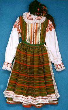 Costumes of Kurpie from Puszcza Biala (White Wilderness)
