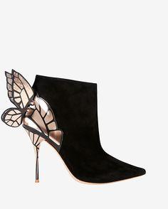 Sophia Webster Chiara Suede Bootie: Black | Shop IntermixOnline.com