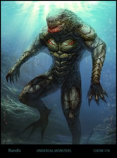 The Creature from Bl. Lagoon by ~randis on deviantART