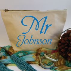Mr Personalised Wash Bag for Him. Toiletry Bag. Cosmetics Bag. Accessory Bag. Wedding Gift. Grooms Gift. Birthday Gift. Fathers Day Gift by SoPinkUK on Etsy