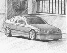 1 of 2 BMW drawings I'm working on for a really cool client.