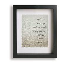 Free / Zac Brown Band - Lyric Art Print - wedding gift idea, typography, wall decor, anniversary, gift idea, gallery wall, beach wedding on Etsy, $19.95
