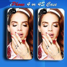Beautyful Lana Del Rey Custom iPhone 4 or 4S Case Cover
