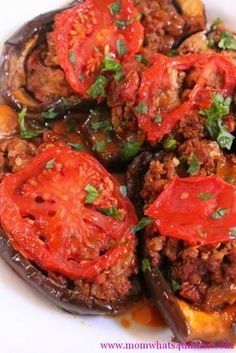 Imam bayildi  - Turkish stuffed eggplant