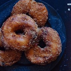 """Apple #beignets with cinnamon & cardamom sugar. Crispy sweet fritters generously stuffed with apple. by @tltthelittlethings #doughnuts Get the recipe and more inspiration from the Doughnuts feed on our site, http://feedfeed.info/Doughnuts?img=228048 ⭐️Remember to tag your cooking, baking, and drink making by tagging """"#feedfeed @thefeedfeed"""" for a chance to be featured here and on our site!"""
