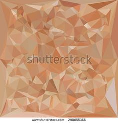 Low polygon style illustration of a fawn brown abstract geometric background.