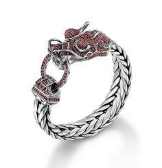 NAGA COLLECTION Dragon Head Bracelet on Large Rectangular Chain