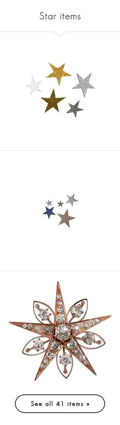 """Star items"" by majolie002 ❤ liked on Polyvore featuring fillers, stars, decorations, other, art, backgrounds, effect, detail, magazine and embellishment"