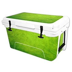 MightySkins Protective Vinyl Skin Decal Wrap for RTIC 45 qt Cooler cover sticker Green Cement * Click on the image for additional details.