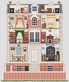 Georgian Dolls House Cross stitch Kit