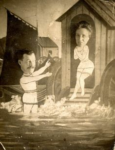 Carnival Face Cutouts | Photographed at the end of the pier in a bathing machine by ...