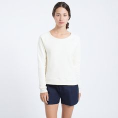 The Boat Neck - Vanilla – Everlane Modern Essentials, Boat Neck, French Terry, Style Me, Most Beautiful, Autumn Fashion, Sweaters For Women, Vanilla, Blouse