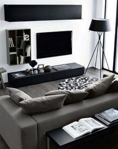 Brilliant Solution Small Apartment Living Room Decor Ideas and Remodel - Page 65 of 80 Manly Living Room, Masculine Living Rooms, Small Living Rooms, Masculine Apartment, Budget Living Rooms, Small Living Room Ideas On A Budget, Room Ideas For Men, Masculine Home Decor, Masculine Room