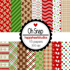 Digital Scrapbooking OhSnap by azredhead on Etsy, $1.50
