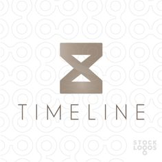 #Logo For Sale: Timeline -An hourglass in abstract form. Symbolizing the past and the future team. - #abstract #time #clock #timer  #future