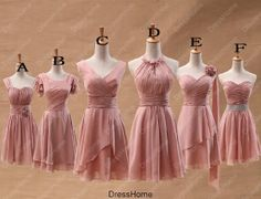 Bridesmaid Dress  Blush Bridesmaid Dress / Short by DressHome, $89.99