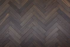 Herringbone Parquet Engineered Wood Floor Brownie deep smoked engineered herringbone parquet flooring developed by Unique Bespoke Wood, suitable for commercial and residential projects. Parquet Texture, Wood Floor Texture, Wood Parquet, Tiles Texture, Hardwood, Dark Wood Texture, Engineered Parquet Flooring, Dark Timber Flooring, Wood Flooring