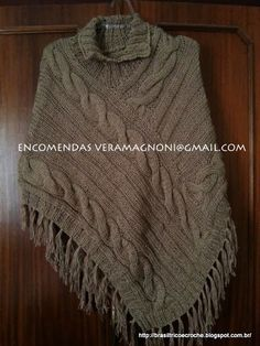 Brasil Tricô & Crochê - Handmade: Ponchos em lã