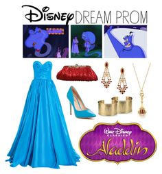 """DPN: Genie from Aladdin"" by eclare887 on Polyvore featuring Blue Nile, Monica Rich Kosann, Oscar de la Renta, Charles by Charles David, Mawi, Disney, women's clothing, women's fashion, women and female"