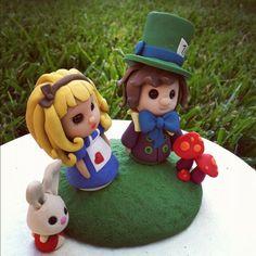 Alice in Wonderland Keepsake Wedding Cake Topper. $250.00, via Etsy.