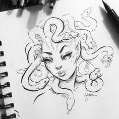 Medusa sketch by Lydia Fenwick