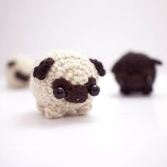 crochet pug amigurumi  cute dog plush van mohustore op Etsy