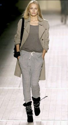 Isabel Marant Sporty chic. Looks like the sweats from Aero's Spring 1 collection.
