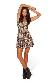Bee Reversible Skater Dress › Black Milk Clothing