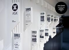 perpendicular panels / THERE (in collaboration with WMK Architecture) – ASX Timeline Wall, 2012