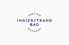 Logo designed by Uniform for recently refurbished Norwegian restaurant Ingierstrand Bad