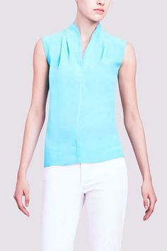 Elie Tahari Judith Blouse With Chiffon Trim