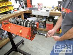 Read on as we show you how you can build up a cheap street small-block with a… Chevy 350 Engine, Ls Engine, Engine Repair, Engine Rebuild, Small Engine, Engine Block, Car Repair, Chevy Motors, Crate Motors