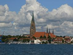 Schleswig Cathedral, 112 m high, worth the walk up the spiral stairs to the top.