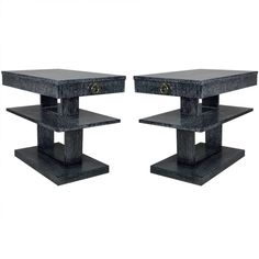 Pair of Gibbings Style Cerused Side / End Tables | From a unique collection of antique and modern side tables at http://www.1stdibs.com/furniture/tables/side-tables/