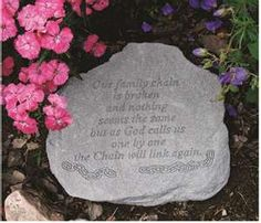 Garden Stone Memorial How to make your own memorial garden on a budget budgeting the broken chain memorial garden stone with the passing of grama cortney and tommy workwithnaturefo