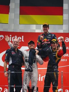 Indian GP 2013 podium...Vettel wins his 4th World Championship