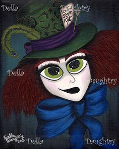"""""""Have I Gone Mad?"""" A 8x 10 acrylic on stretched canvas. Della Daughtry. #bigeyeart"""