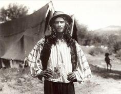 A Kalderari boy near a tent. 1930s.   A photo from Florin Petru Manole's archive.