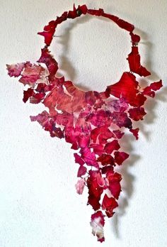 Falling flower fragments. Would look great made out of scraps of any luxurious old fabrics - bits of silk ribbon, lace, etc.