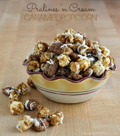 Pralines and Cream Caramel Popcorn Recipe