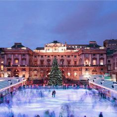 Best Christmas Events in London - Somerset House - Ice Skating