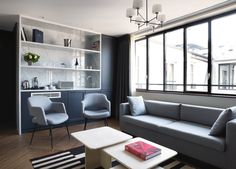 Moody Blues: The Hotel Bachaumont in Paris - Remodelista Architecture France, Interior Architecture, Interior Design, Hotel Paris, Paris Hotels, Paris Paris, Paris Design, Decoration Design, Design Hotel