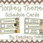 Monkey Themed Schedule Cards - Natalie Lemacks