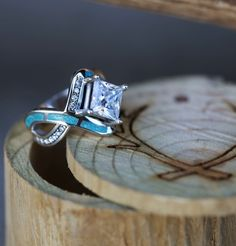 Nature Inspired Emerald Engagement Ring Set Rose Gold Engagement Rings Branch and Wedding Emerald Ring - Fine Jewelry Ideas Turquoise Wedding Band, Turquoise Rings, Tk Maxx, Or Rose, Rose Gold, Diamond Engagement Rings, Cool Engagement Rings, Western Engagement Rings, Western Rings