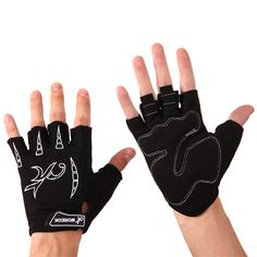 Anti-Skid MTB Road Bicycle Padded Palm Half Finger Gloves Breatheable Bike Fitness Sports Gloves Durable Gloves for Outdoor #Affiliate