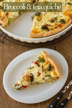 Featured Recipe   Broccoli & Feta Quiche from Pizzarossa #recipe #SecretRecipeClub #breakfast #quiche