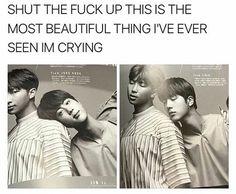BTS (防弾少年団) - Kim Namjoon x Kim Seokjin (NamJin) - it's real, fight me Otp, Namjin, Taekook, K Pop, Bts Love, Xiuchen, Bulletproof Boy Scouts, Bts Memes, Funny Memes