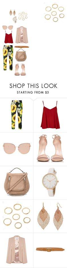 """""""peaches"""" by crooked-smile78 on Polyvore featuring Dolce&Gabbana, Topshop, Stuart Weitzman, Rebecca Minkoff, Bold Elements and rag & bone"""