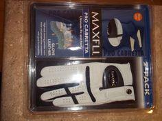 MAXFLI -PRO CABRETTA GLOVE LEATHER 2 pack (Medium large) #Maxfli