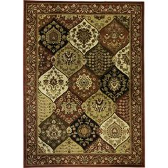Wentworth Panel Area Rug (5'3 x 7'3) - Overstock™ Shopping - Great Deals on 5x8 - 6x9 Rugs